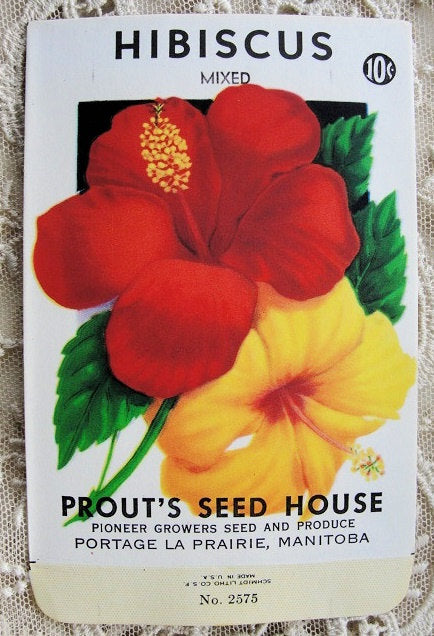 Antique Seed Packet Colorful Flowers Suitable To Frame, Cottage Chic, Farmhouse Decor ,Scrapbooking Crafts, Weddings Gifts