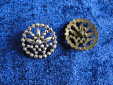 Antique French CUT STEEL Victorian Fancy Button Highly Detailed FILIGREE Design Button Perfect For Vintage Clothes Jewelry etc