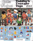 CUTE Little Vogue Sewing Pattern 1844 Toddlers Boy or Girls Jumper, Jumpsuit, Bloomers, Blouse, Shirt and Transfer UNCUT Size 2 Vintage Sewing Pattern