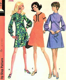 60s MOD Empire Dress Pattern McCALLS 2127 Three Cute Styles Bust 34 Vintage Sewing Pattern
