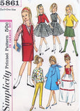 1960s Original Vintage SKIPPER Patterns Simplicity 5861 Skipper Doll Clothes Pattern Barbie Lil Sister Clothes Pattern Size 9 Inch Doll Vintage Sewing Pattern FACTORY FOLDED