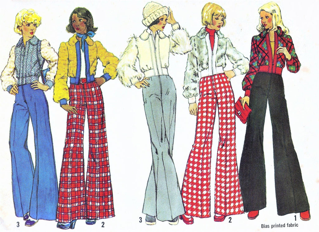 Retro 70s FAB Short Jacket and High Waist Wide Leg Pants Pattern SIMPLICITY 5922 Snow Bunny Style Cute Jacket Bust 31 Vintage Sewing Pattern