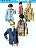1960s CLASSIC Boys Suit Blazer Jackets and Vest Pattern SIMPLICITY 8371 Perfect For Weddings, Graduations, Special Ocassions, Boys Childrens Vintage Sewing Pattern UNCUT