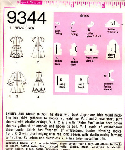 674a91a0320c1 ... 70s CUTE Little Girls Toddler Fancy Party Dress Pattern SIMPLICITY 9344  Retro Wedding Bridal Flower Girl