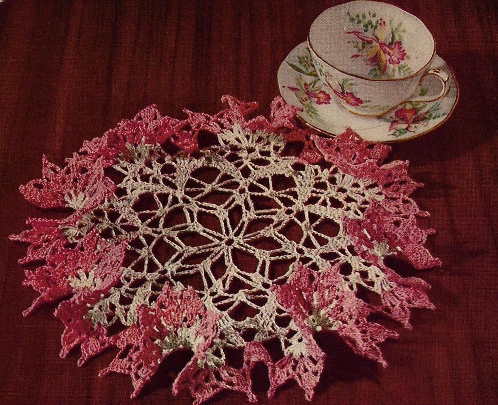 1950s Vintage Crochet Book American Thread Star Book 143 Pretty Ruffled Doilies Crochet Patterns