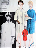 60s Galitzine Elegant Coat Pattern Vogue Couturier Design 1094 High Fashion Bulky Coat Day or Evening 2 Styles Bust 32 Vintage Sewing Pattern