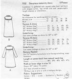 1960s MOD Maternity Coat Dress Pattern VOGUE 7032 Flattering Front Button Coatdress Bust 36 Vintage Sewing Pattern UNCUT