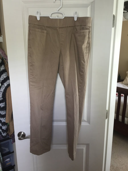 Lee Khaki Pull On Pants