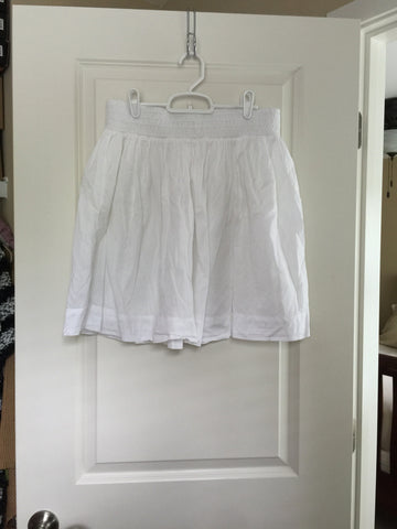 Banana Republic White Skirt