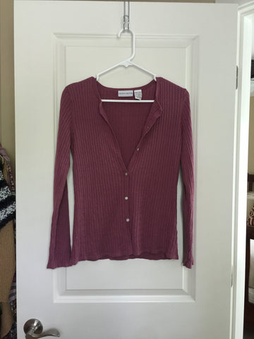 Jaclyn Smith Purple Sweater