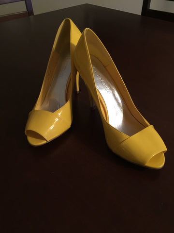 Aldo pumps yellow size 9