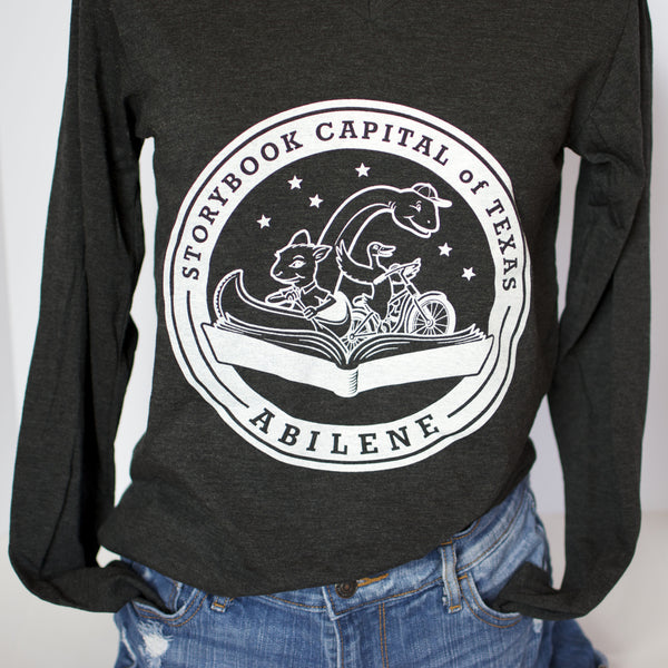 Long Sleeve - TX Storybook Logo - Charcoal