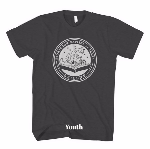 Short Sleeve Storybook Logo Shirt - Charcoal