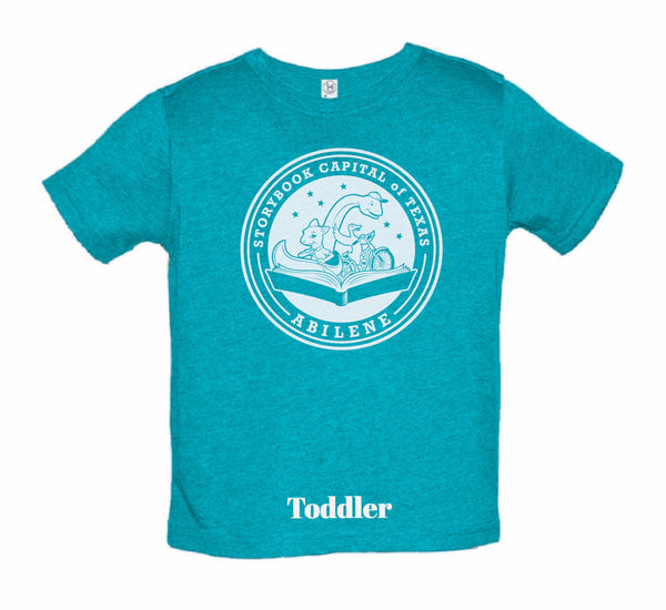 Short Sleeve - TX Storybook Logo - V-neck - Blue