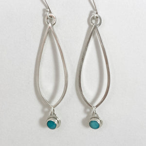 Amazonite leaf earrings