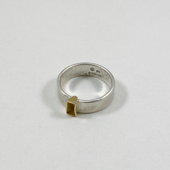 Blade ring with gold