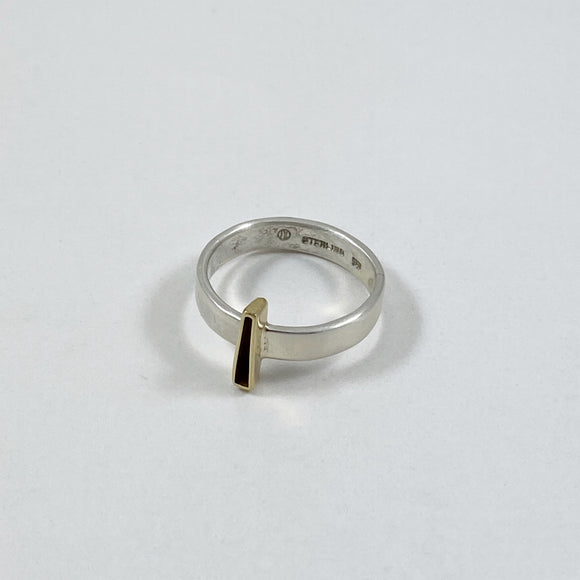 Blade ring with gold 2