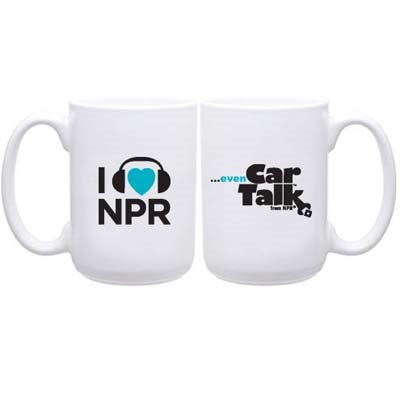 I [heart] NPR ... Even Car Talk Coffee Mug