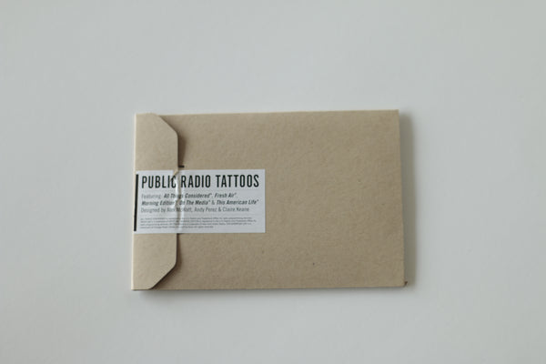 Public Radio Temporary Tattoos