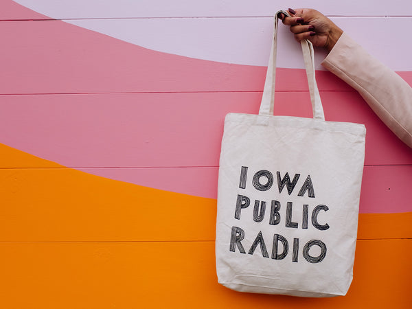 Retro Radio Canvas Tote