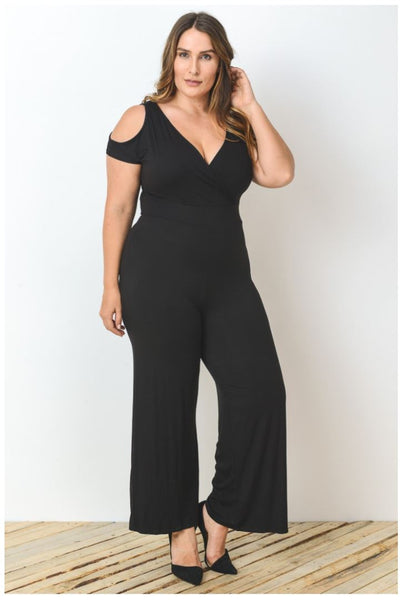 Black Plus Size Jumpsuit Dress