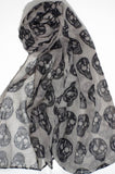 Black or Brown Skull Scarf - Choose