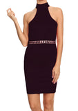 Cristina Black Diamond Cocktail Dress