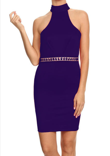 Cristina Blue Diamond Cocktail Dress