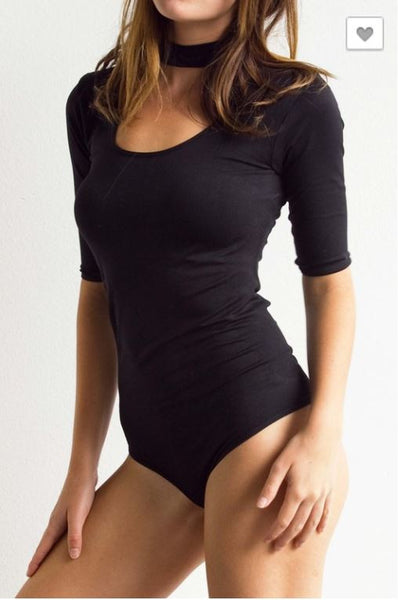 Black Collar Bodysuit