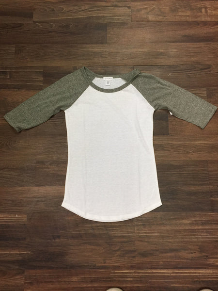 Olive Green Baseball Shirt