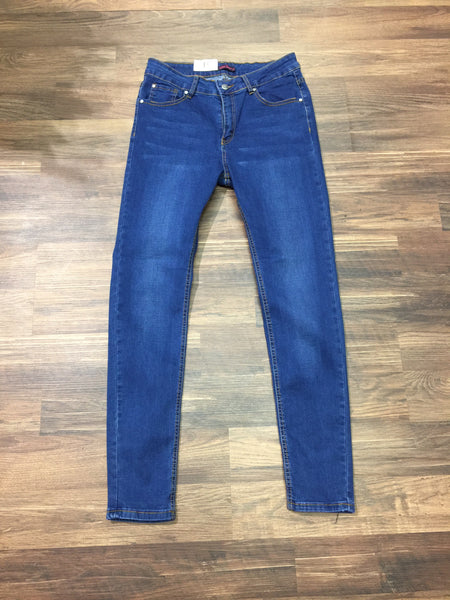 Trinity Mid Blue Jeans Stretch