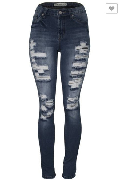 Cielo Ripped Jeans Navy Blue