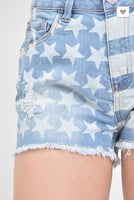Chiqle Stars and Stripes American Flag Shorts