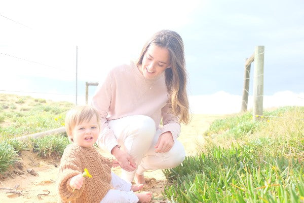Amy Hunter with her son, Otis