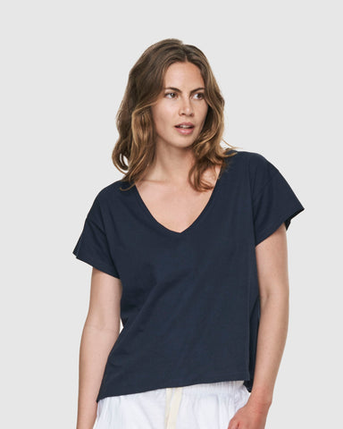 Deep V Neck | French Navy