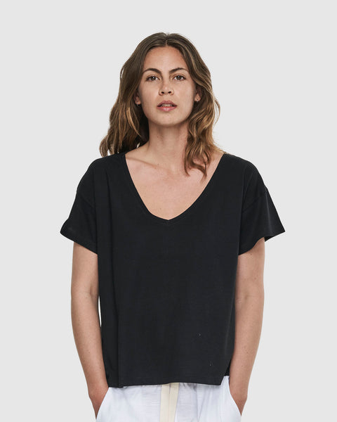 Deep V Neck | Black