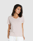 Classic V Neck Tee | Dusty Rose