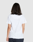 Slub Scoop V Tee | White