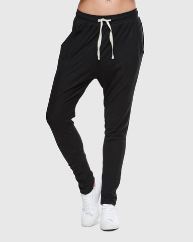 Slub Lounge Pant | Black