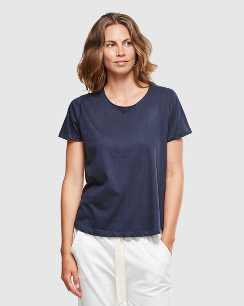 Cloth & Co. Organic Cotton Crew Neck T-Shirt | French Navy
