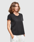 Organic Cotton Crew Neck T-Shirt | Black