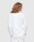 Crew Neck Long Sleeve | White