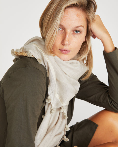 Silk & Wool Scarf | Winter Fog