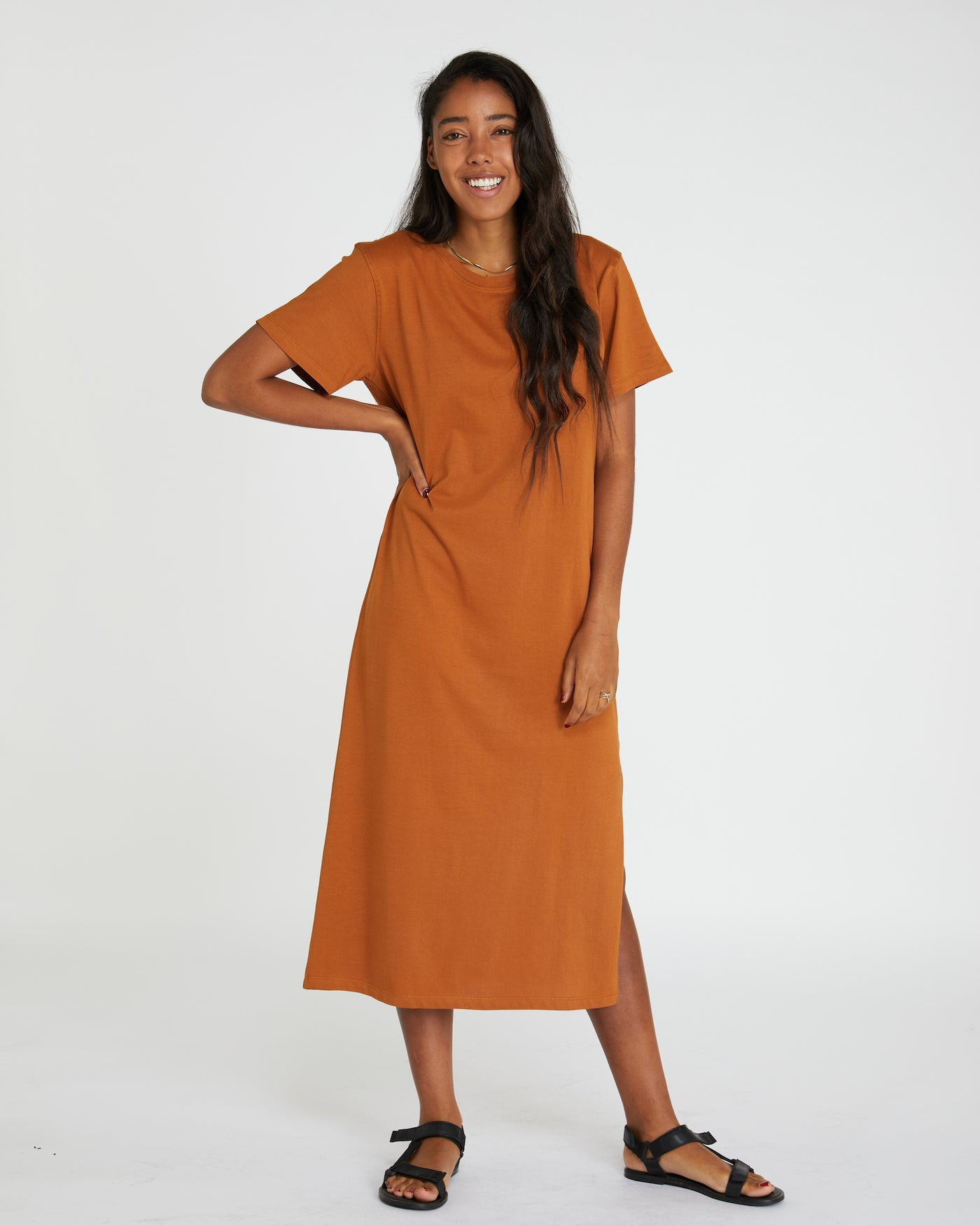Boxy T-Dress | Red Earth