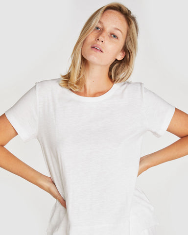 The Raw Hem Slub Tee | White