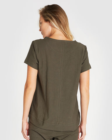 The Raw Hem Slub Tee | Deep Forest