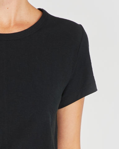 The Raw Hem Slub Tee | Squid Ink