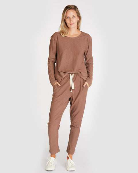 The Slub Lounge Pant | Mocha