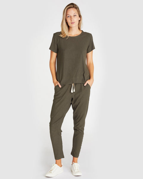 The Slub Lounge Pant | Deep Forest