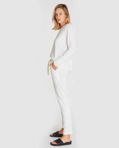 The Slub Lounge Pant | White